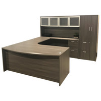Cherryman Amber Series U-Shape Desk With Hutch & Wardrobe