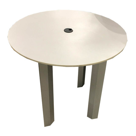 Knoll Grey Occasional Side Table With Grommet Cover