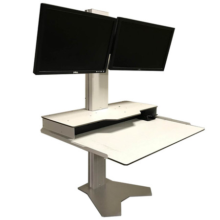 RightAngle Hover Helium Heavy Duty Dual Monitor Height Adjustable Sit And Stand Desk