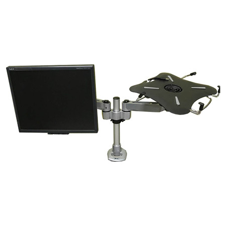 Right Angle Hover 2™ Series Dual Monitor Arm With Laptop Mount