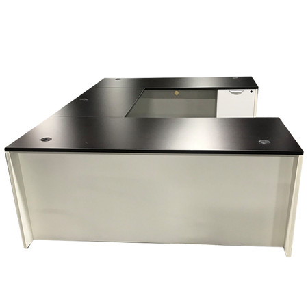 Express Chassis Series Executive U-Shape Desk With Box Box File & File File Storage