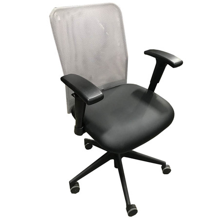 Highmark Modela Series Task Chair With Black Seat & Silver Mesh Back