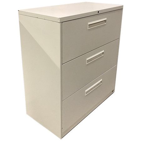"Hon 36"" Beige 3-Drawer Lateral File With Adjustable File Bars"