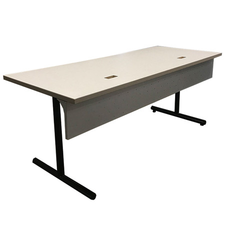 30'' x 72'' Off-White Training Tables No Power