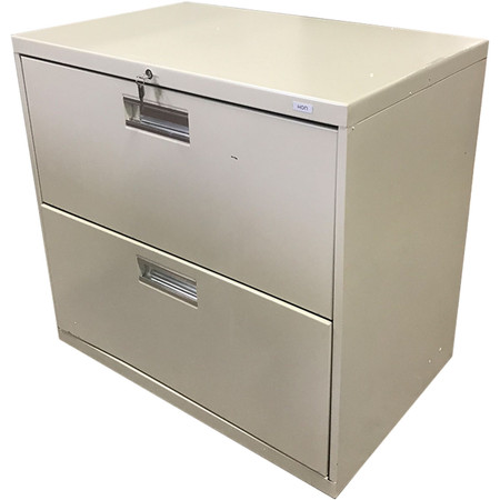 HON Brigade 600 Series 2 Drawer Lateral Filing Cabinet Light Gray