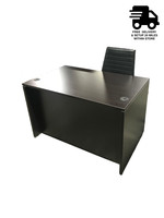 """Express 47"""" Executive Desk With Hanging Box File and Eurotech Frasso Black Leather Chair"""