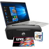 4BP81UA HP Pavilion - 15-cw0007ca, AMD RYZEN 3-2200U@2.5GHz, 8GB RAM, 1TB HDD, Windows 10 And HP AMP-100 2-in-1 Bluetooth Speaker/Printer with Social Media Photo Paper Bundle (Renewed)