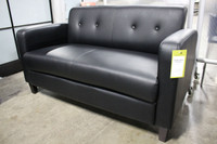 Express SX Series Lounge and Reception Loveseat in Black Vinyl