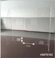 Acrylic Desk Top Screen w/ Transaction Space & Side Panels