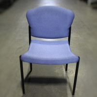 Allsteel Blue stack chair no arms