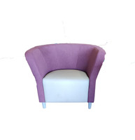 Hon Lounge Chair Purple Back Grey Seat