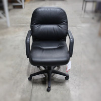 Black  Puffy Vinyl Task Chair