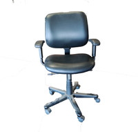 Harter Black Leather Task Chair