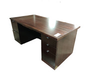 Dark Walnut Veneer Geiger Desk