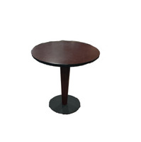 "20"" Round Cherry end tables"