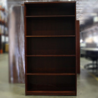 "5 shelf Mahogany Bookcase 65""x36"""
