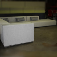 3 piece gray sectional couch