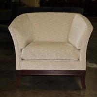 HBF Cream Club chair with espresso legs