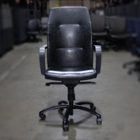 Gunlock GK2384 Black Leather Task Chair