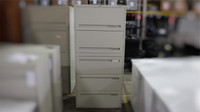 "Teknion putty 30"" 5 drawer lateral file cabinet"