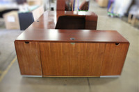 Kimball U-Shaped Desk, Mahogany