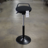 Black Fabric Low Back Stool