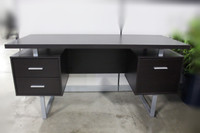 "Cappuccino Monarch 60 "" Office Desk"