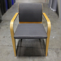 Haworth Myrtle-Mueller Wood Frame/ Grey Fabric Guest Chairs