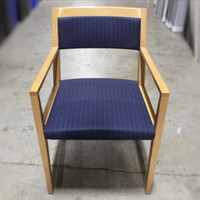 Haworth Myrtle-Mueller Wood Frame/ Blue Fabric Guest Chair