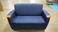 Jasper Blue Fabric Love Seat