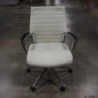 White/Cream Conference Chair 1