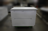 """Allsteel 2-Drawer Lateral File White w/39"""" x 24' Laminate Top"""