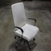 Soft White Highback Conference Chair