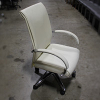 Cream Conference Chair w/Padded Arms