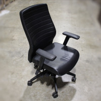 Black Leather Task Chair