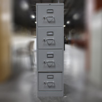 Hon Grey 4-Drawer Lateral File