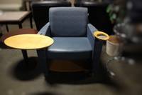 Haworth Hello Lounge Chair w/Laptop Table & Cup Holder
