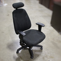 Global Black task chair with headrest