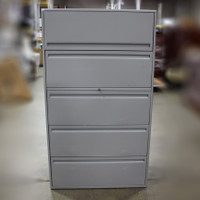 5 Drawer Grey Lateral File