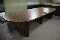 114x47 Modern Walnut Racetrack Conference Table
