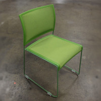 OfficeSource Color Stack Collection Mesh Green Stack Chair with Painted Frame