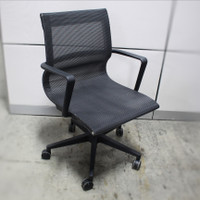 OfficeSource Franklin Collection Mesh Swivel Chair with Black Frame