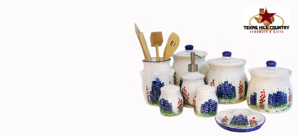 Texas kitchen decor hand made in Texas | Texas Hill Country Ceramics