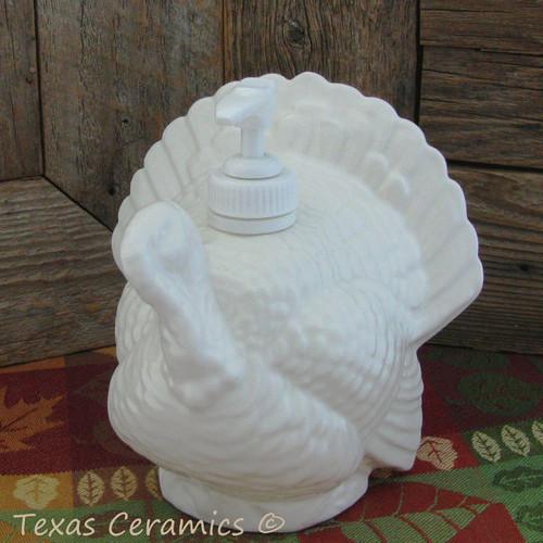 White turkey soap dispenser.