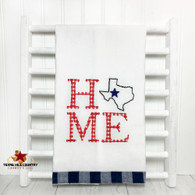 Texas State with Lone Star Home Towel, red, white and blue.
