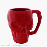 Red skull mug made in the USA.