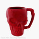 Red skull mug made in the USA.