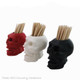 Small skull toothpick holder in assorted colors.