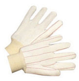 18oz Double Palm Knit Wrist Canvas Gloves  ## 325 ##