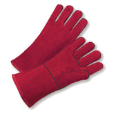 Select Shoulder Red Cowhide Welder's Gloves  ## 615 ##